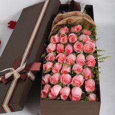 南阳情人节鲜花速递同城花店配送 蓝色妖姬红香槟粉白玫瑰礼盒