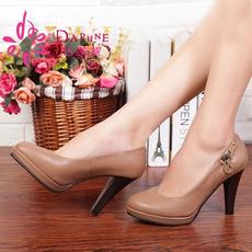 Daphne/达芙妮专柜正品春秋款单鞋上班穿通勤高跟女鞋1013404041