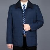 棉衣中老年男装 休闲外套宽松薄棉服爸爸装 秋冬季薄款 中年男士 棉袄