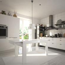 伸缩新款水曲柳餐台饭桌实木椅组合小户型钢化玻璃住宅家具