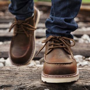 春季新款工装鞋男低帮休闲鞋大头皮鞋男鞋子英伦韩版潮流百搭潮鞋
