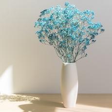 满天星干花花瓶摆件陶瓷小清新客厅插花北欧餐桌装饰白色欧式花器