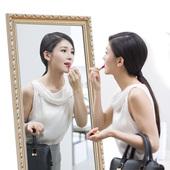 欧式简约全身镜子穿衣镜落地镜卧室立体壁挂镜显瘦服装 店大试衣镜