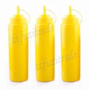 24oz 3pcs Plastic Kitchen Squeeze Bottles Condiment Dispense