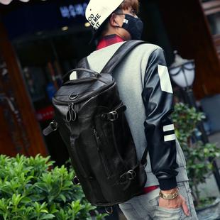 男士双肩包背包韩版学生书包潮流男包包登山时尚休闲旅行包电脑包