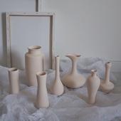 饰陶瓷素坯花瓶摆设拍摄道具装 我家住在美术馆 极简北欧家居装