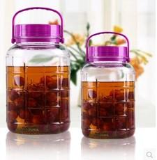 密封罐玻璃储物罐厨房家用食品圆形透明有盖罐子瓶子思密达