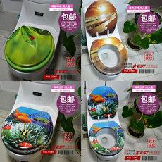 步木正品新款软座普通马桶盖通用加厚彩色抽水马桶盖厕所板盖板