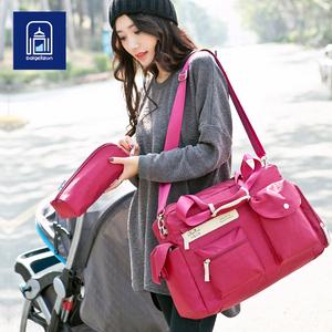 佰格丽尊 妈咪包多功能斜跨 妈妈包大容量孕妇包母婴外出包袋套装妈咪包