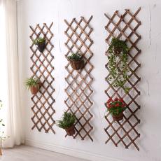 实木网格铁艺客厅挂墙花架壁挂墙上装饰阳台墙壁绿萝悬挂式花盆架