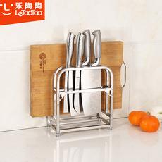 乐陶陶 不锈钢砧板架菜板架案板架 厨房置物架刀架厨具收纳架子