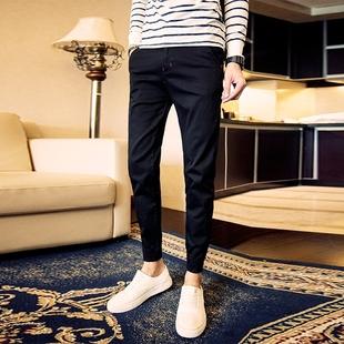青少年紧身牛仔裤男士修身型韩版潮流春季束脚复古收口小脚裤子男