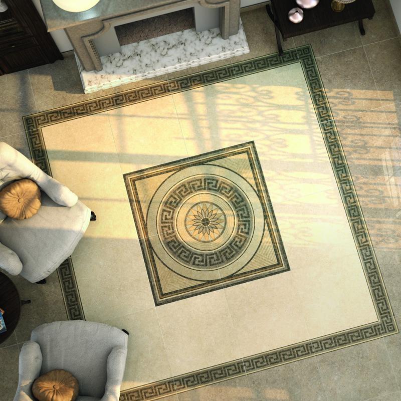 进口瓷砖 西班牙 晓爱客厅地毯地砖拼花仿大理石