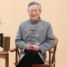 中式唐装汉服中国风男装居士盘扣亚麻外套秋季民族服装中老年长袖