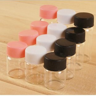 37*40*24mm 20ml glass bottles with plastic screw cap transpa