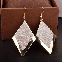 Chic minimalist net red Korean anti-allergic atmospheric tide personality Pendant Earrings female earrings earrings