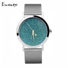 圣诞礼物 译时Enmex星光简洁创意设计中性女表 星空系列手表