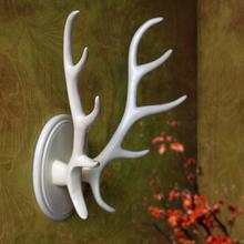 美式鹿角衣帽挂钩家居墙面壁挂钩装饰衣帽架创意浴室挂衣钩钥匙架