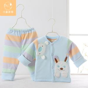 秋装纯棉男女宝宝套装秋冬季薄棉衣0-2岁婴儿衣服棉袄新生儿外套