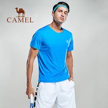骆驼运动男 2018春夏新款 休闲运动男子健身上衣宽松圆领T恤短袖
