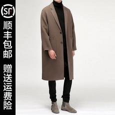 双面羊绒大衣男中长款2017新款冬季加厚青年帅气英伦风毛呢子外套