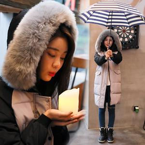 羽绒服女中长款2017新款韩版潮韩国东大门学生可爱宽松时尚外套冬