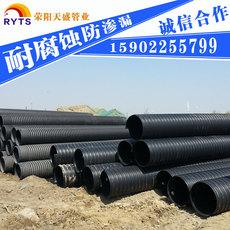 钢带增强排水管PE钢带增强波纹管大口径钢带增强螺旋波纹管特价