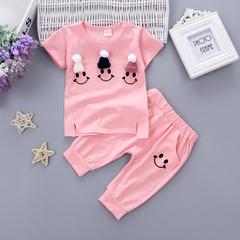 女童1夏装0女宝宝衣服2夏季3岁婴儿童装4夏天短袖两件套装韩版潮