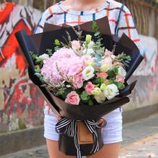 北京鲜花速递同城创意混搭花束玫瑰绣球雏菊鲜花礼盒生日七夕送花