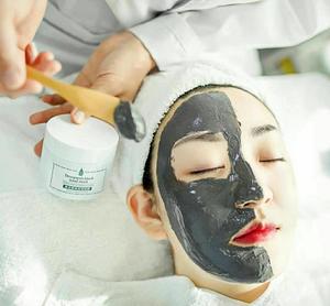 茱莉花荟鳞毛蕨根黑泥面膜 天然有机护肤品清洁通透去黑头粉刺护肤品面膜