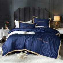 欧式高档纯色60支水洗真丝四件套超柔冰丝绸绣花被套床单床上用品