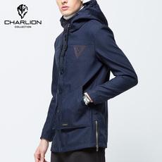 2016新款牛仔外套时尚潮流修身男青年夹克衫连帽复古秋季休闲上衣