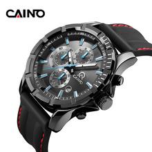 卡伊诺夜光全黑军表运动橡胶带三眼多功能手表男野外防水学生腕表