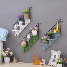 饰品墙面装 墙上装 饰创意家居卧室墙饰挂钩铁艺壁挂小花架壁饰隔板