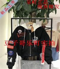 乐町2018春女C4BC81201国内代购C4BC8120189贴布带帽飞行夹克669