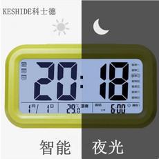 包邮 超大屏幕 闹钟创意 聪明钟 电子钟 贪睡闹钟 带温度 夜光