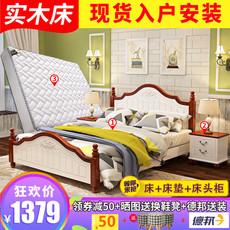 韩式田园床1.8米风格床1.5欧式床白色公主床现代简约实木地中海床