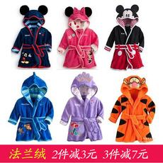 婴儿睡袍秋冬保暖0-1岁男女宝宝法兰绒浴袍1-2-3岁小童睡衣春秋8