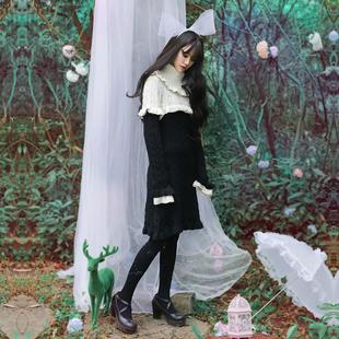 诺里 篱鹿 甜美套头修身显瘦毛衣女中长款长袖打底羊毛针织衫春秋