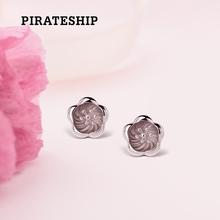 海盗船银饰新款花蕊耳钉女韩国气质银耳环时尚个性迷你耳坠简约女