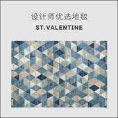 简约现代地中海风格 圣瓦伦丁 北欧几何地毯 客厅茶几沙发卧室床边