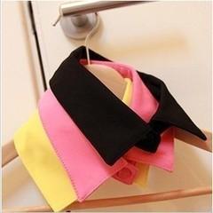 日系韩版纯色糖果色韩国复古衬衫领子男女假领子项链黑色装饰领