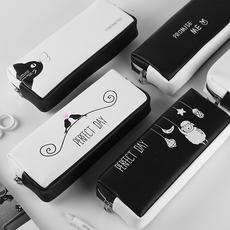 韩版创意简约大容量男女小清新笔袋 日韩国文具盒初中学生铅笔盒