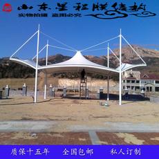 膜结构车棚停车棚汽车棚自行车棚遮阳棚雨蓬PVDF PVC膜布景观棚