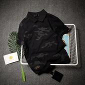 翻领T恤保罗衫 日系潮牌修身 迷彩不跟随 原创夏季短袖 POLO衫