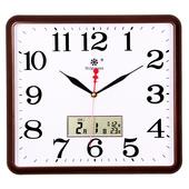 方形电子挂钟客厅静音钟表家用个性 创意时尚 艺术万年日历石英钟大