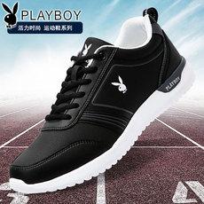 花花公子男鞋冬季保暖男士运动鞋皮面休闲鞋板鞋跑步鞋男加绒棉鞋
