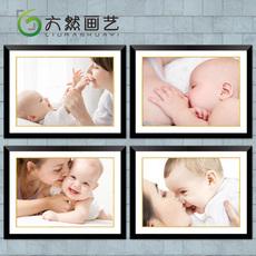 亲子母婴儿装饰画 医院B超室月嫂托儿所孕妇产房挂画儿童房间壁画