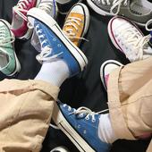 帆布鞋女2019春季新款韩版1970s百搭平底原宿ulzzang学生情侣板鞋