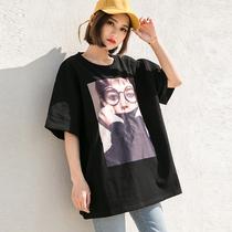 女衣服2018新款 韩范社会半袖 夏天女装 百搭短袖 t恤女夏季学生上衣